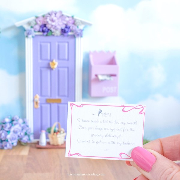 How to fairy door birthday printable fairy letter
