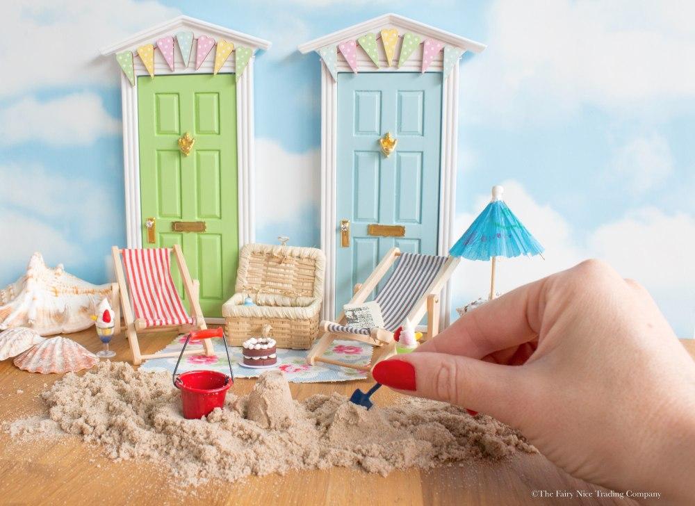 create a seaside Fairy Door scene