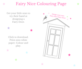 Fairy Door colouring in page