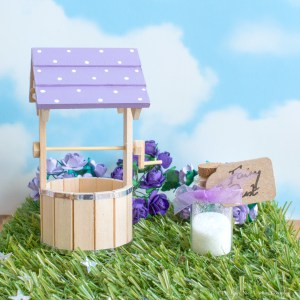 purple fairy wishing well for Fairy Doors uk