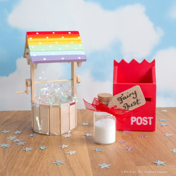 Rainbow Fairy Wishing Well with Fairy Post Box UK