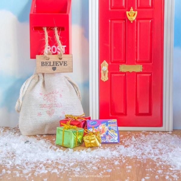 miniature christmas selection box for fairy doors uk