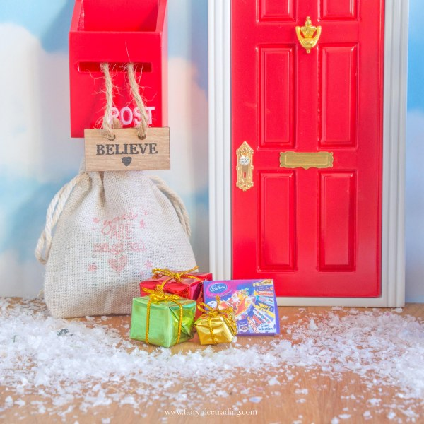 miniature christmas selection box for fairy doors uk