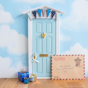 baby blue bunting Fairy Door first Christmas gift