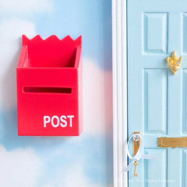 bright red post box for Fairy Doors