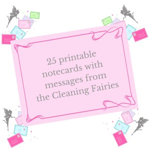 printable cleaning Fairy letters