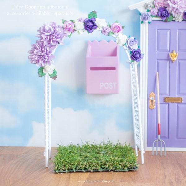 Fairy garden flower arch in purple uk