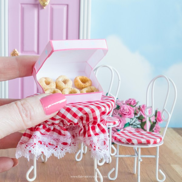 printable miniature donut box