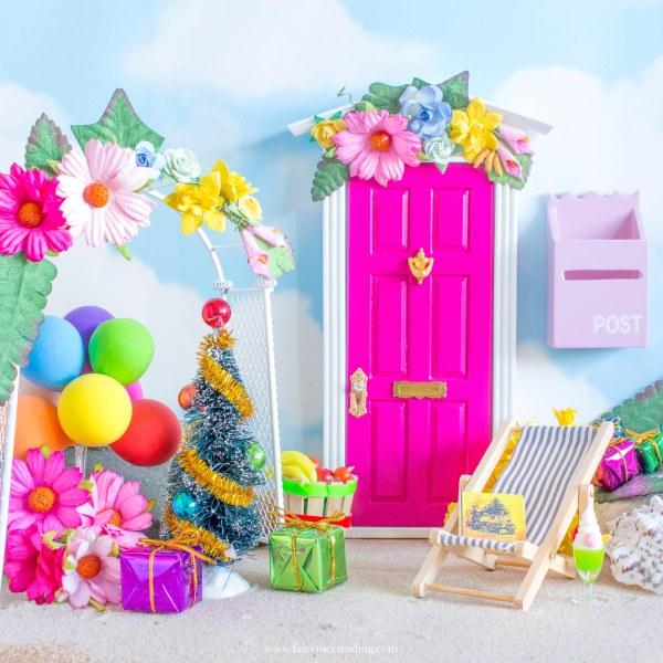 bright pink fairy door christmas