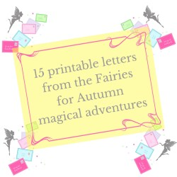 printable Fairy letters for autumn