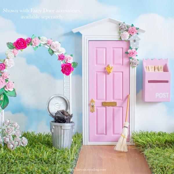 fairy door pink and grey
