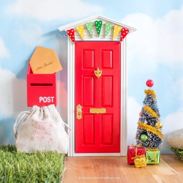 Christmas Fairy Door Set red uk