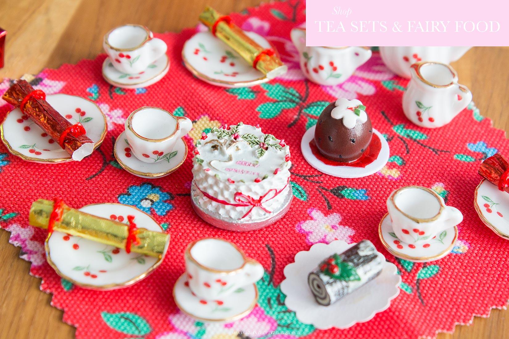 fairy door tea sets and fairy food