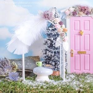 Winter Pink Fairy Garden Flower arch