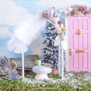 Winter Pink Fairy Garden Flower arch
