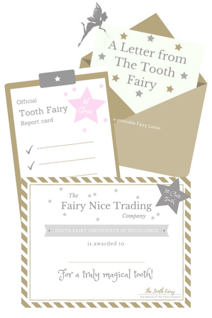 graphic about Fairy Printable named Free of charge printable Enamel Fairy certification The Fairy Awesome