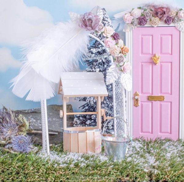 Grey Fairy Wishing Well for fairy doors uk