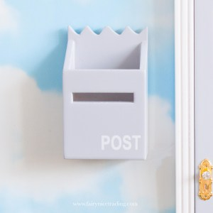 fairy door post box grey uk