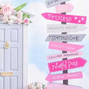 Door wreaths and signposts