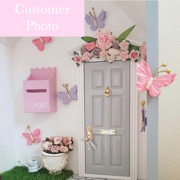 customer review grey fairy door with flowers