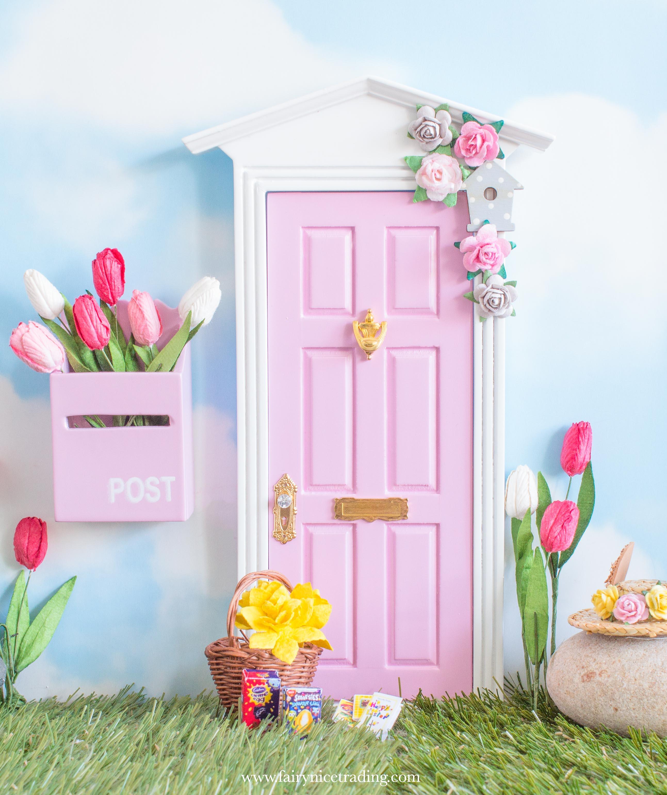 pink Easter Fairy Door