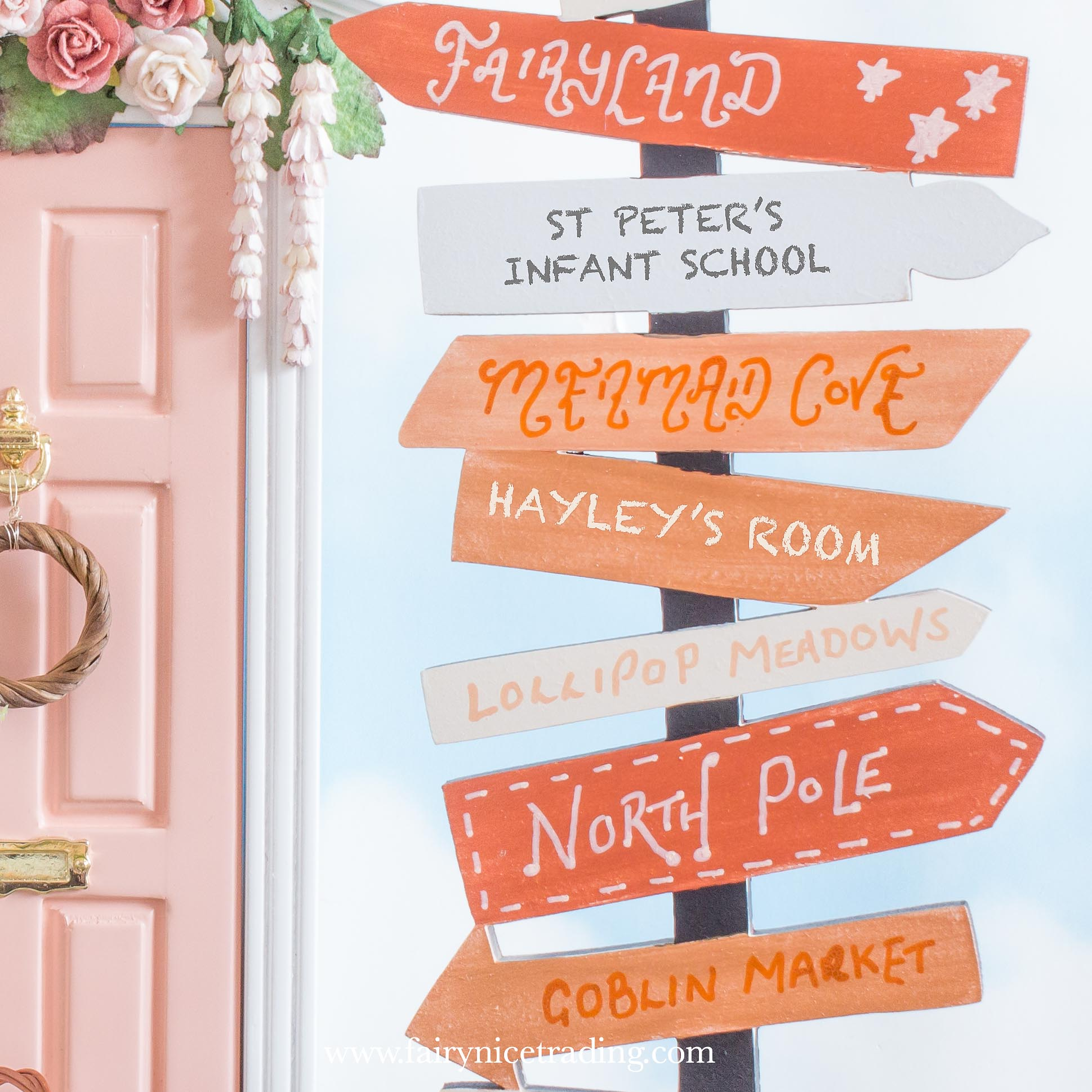 personalised fairy signpost