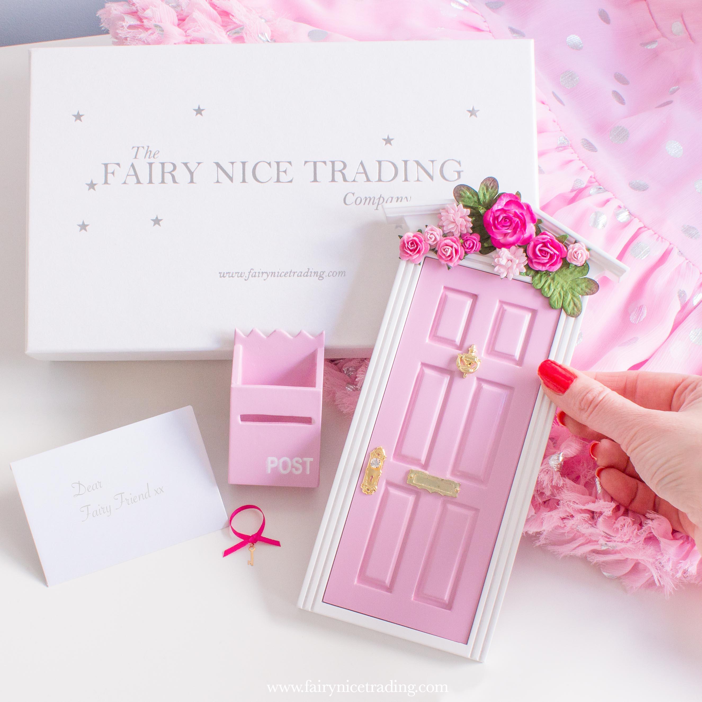 pink fairy doors