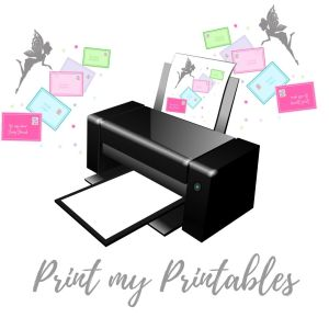 printed fairy letters