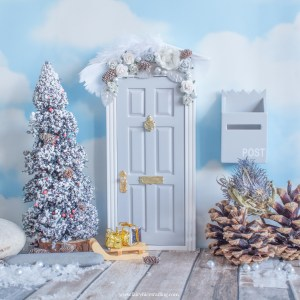 grey christmas fairy door