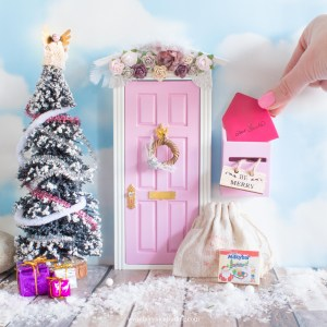 pink christmas fairy door accessories