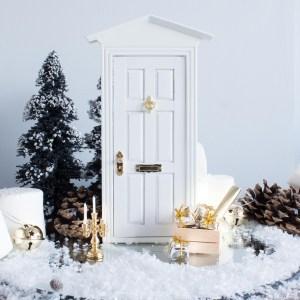 rustic white fairy door