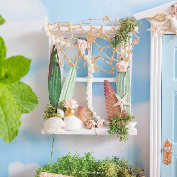 Mermaid window for fairy doors
