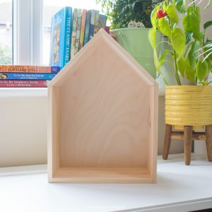 large wooden house box