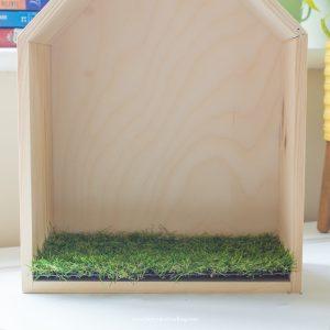 large fairy house grass mat