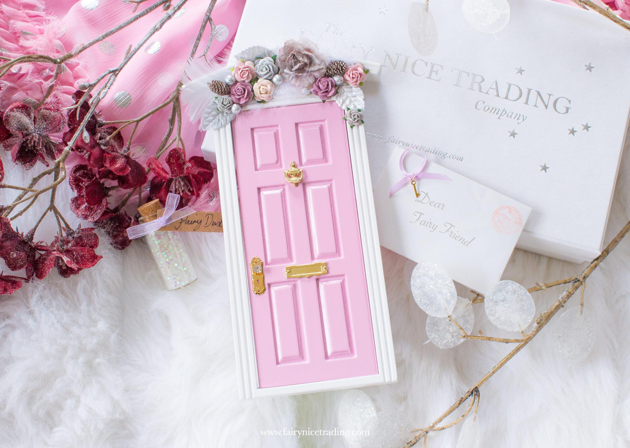 personalised pink fairy door uk