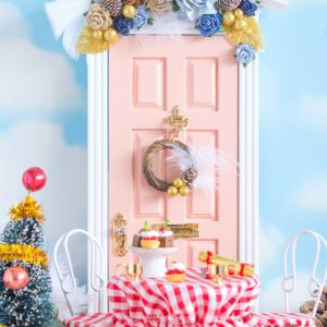 gold winter wreath for fairy doors