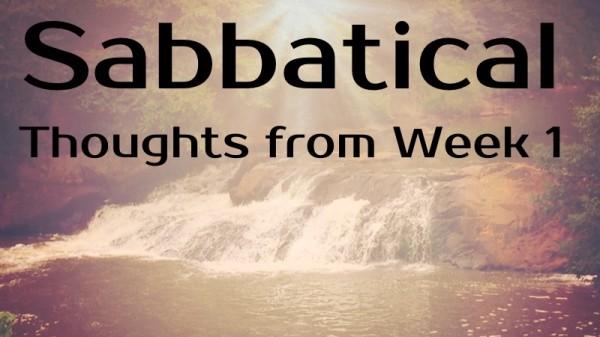 Sabbatical-Week1
