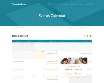Built-in Events Calendar