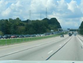 traffic on way to PA