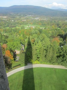 view from battle of bennington monument, VT