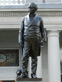 statue of daniel webster, NH state house, concord