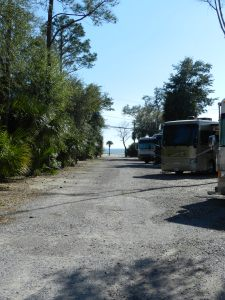 short walk to beach at cajun rv park