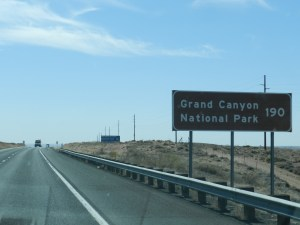 on way to the grand canyon