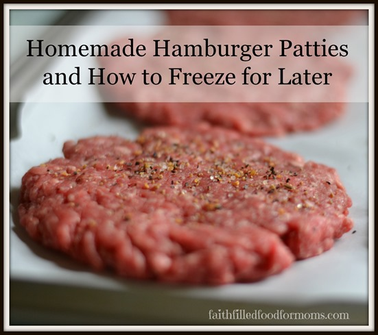frozen hamburger patty recipes bull faith filled food for moms