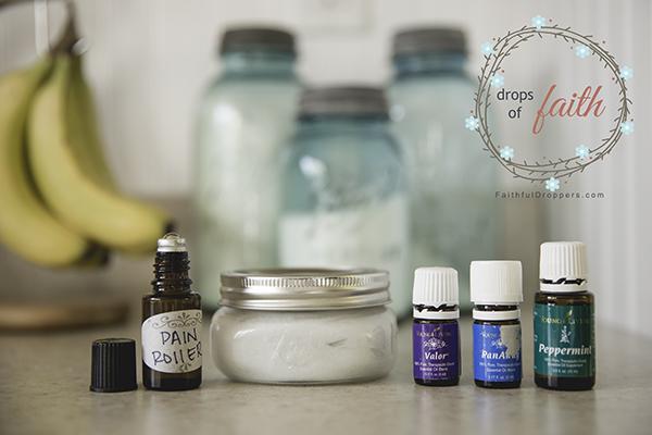 Drops of Faith - Pain Cream and Roller. PanAway, Valor and Peppermint. Young Living.