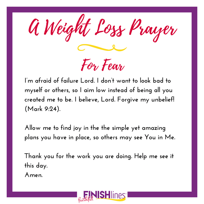 A Weight Loss Prayer for Fear