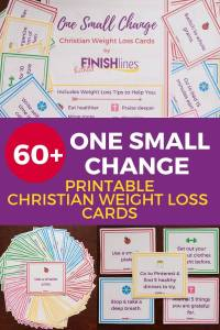 Christian Weight Loss Cards - One Small Change