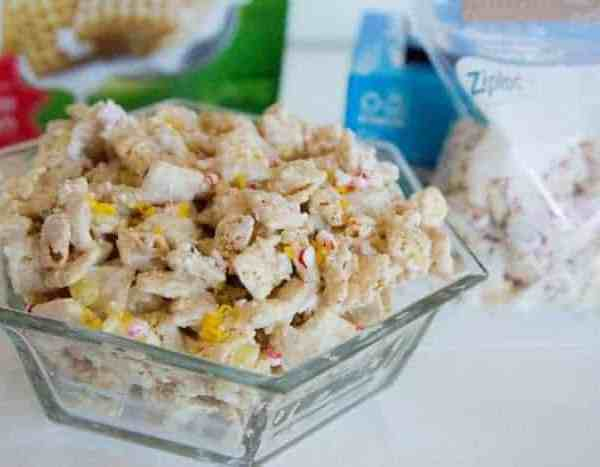 White Chocolate Lemon Peppermint Chex Party Mix