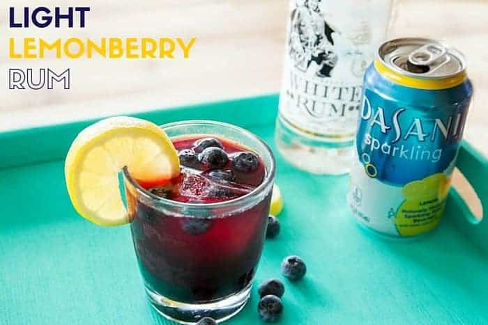 Light Lemonberry Rum Recipe. With only 106 calories, 9 net carbs, and 7 grams of sugar this healthy rum recipe will be a hit with all of your girlfriends! You must be 21 to consume alcoholic beverages. When doing so, please drink responsibly. No drinking and driving, and no drinking and texting!