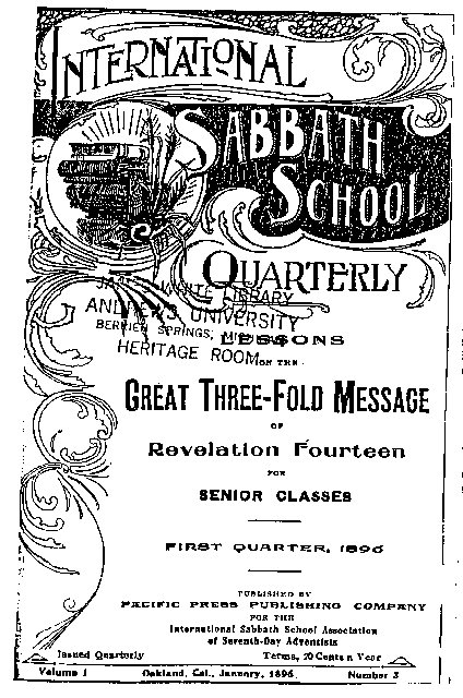 The 1896 Sabbath School Quarterly